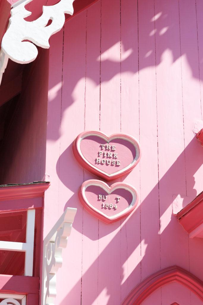 Pink Gingerbread house Martha's Vineyard