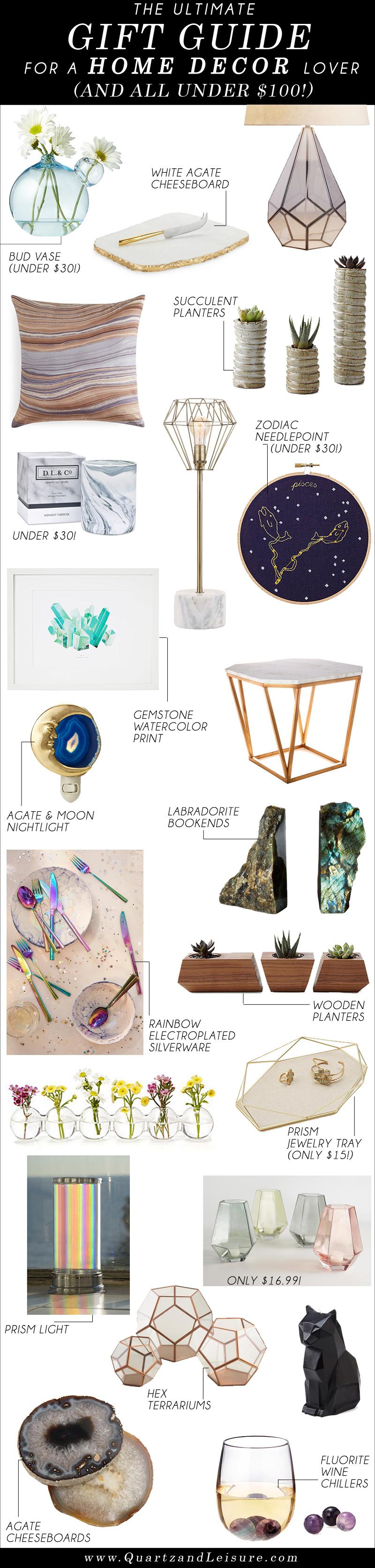 Home Decor Gift Guide -Quartz & Leisure