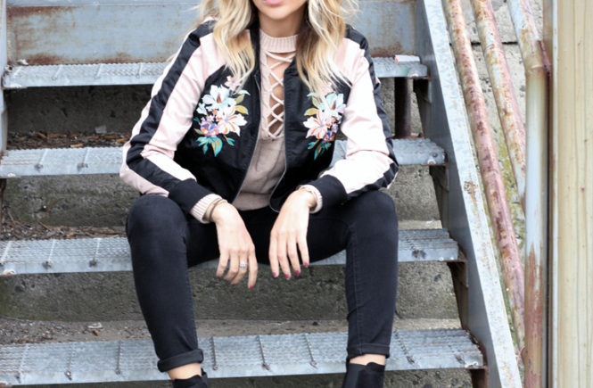 Floral Bomber Jacket - Quartz & Leisure