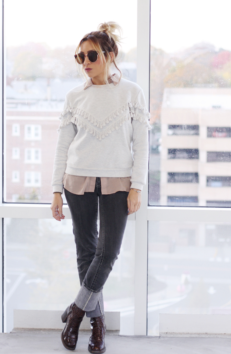 Tassel Sweatshirt - Quartz & Leisure