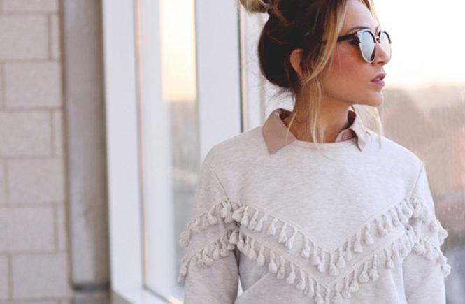Tassel Sweatshirt - Quartz & Leisure