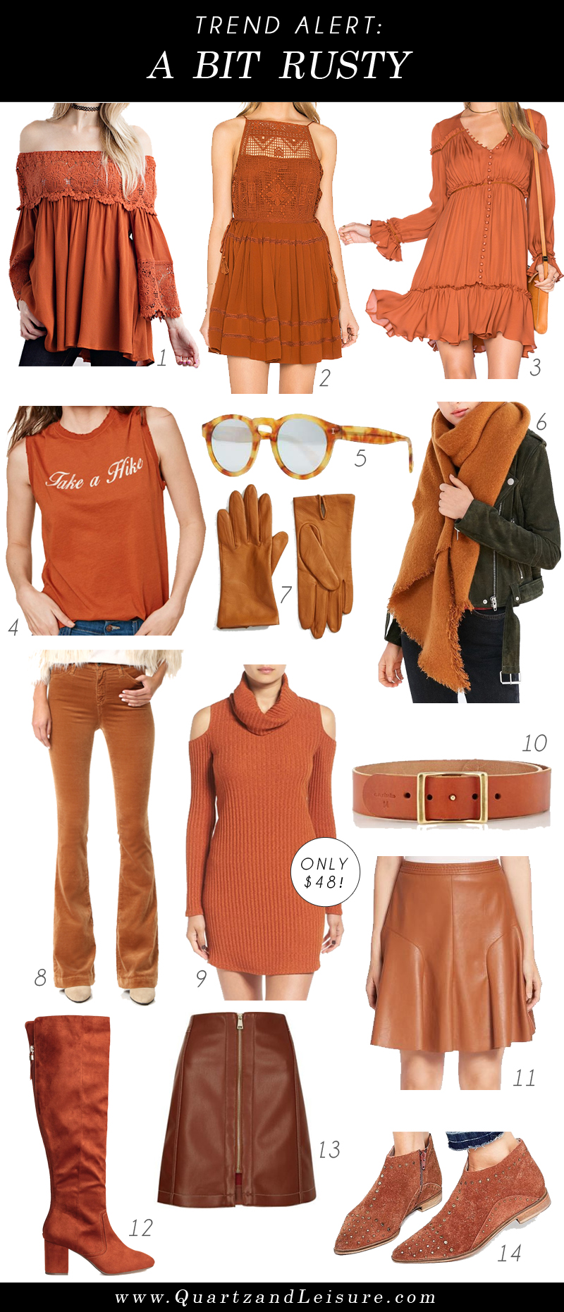 Feeling a Bit Rusty - a hot color trend for Fall