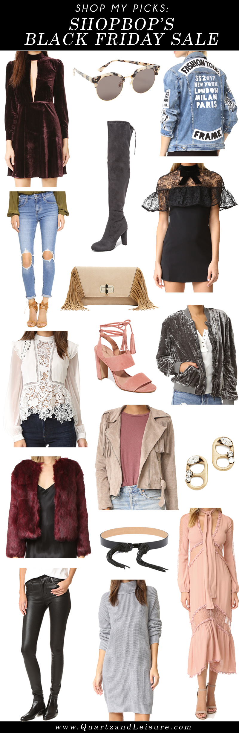 Shop My Picks: Shopbop Black Friday Sale - Quartz & Leisure