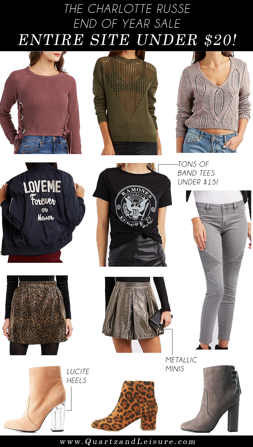 Charlotte Russe Sale - Everything $20 or Less - Quartz & Leisure
