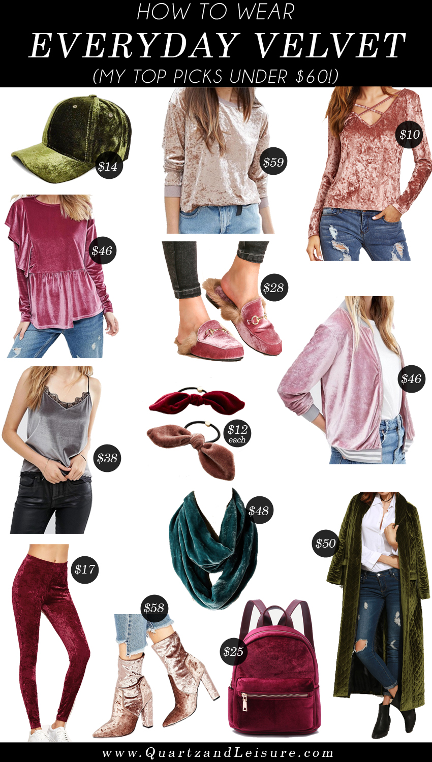 How to Wear Velvet for a Casual Everyday Look - Quartz & Leisure