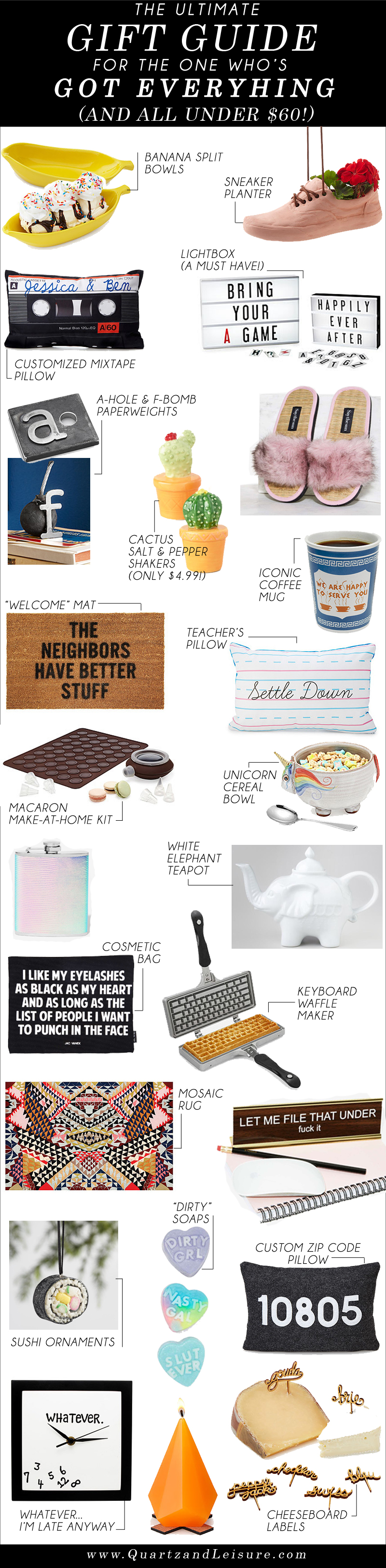 Gift Guide for the One Who's Got Everything - Quartz & Leisure
