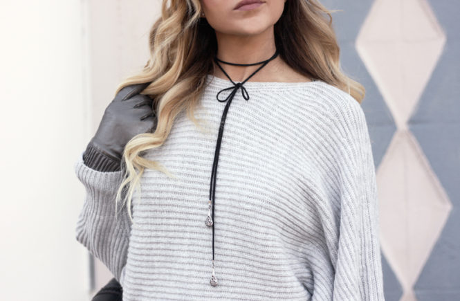 Grey Dolman Sleeve Sweater - Quartz & Leisure
