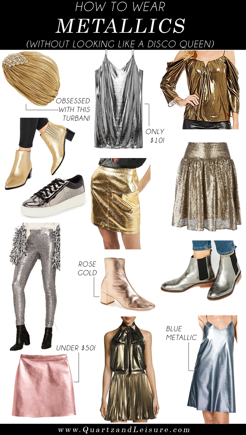 How to Wear Metallic - Quartz & Leisure