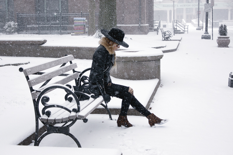 Snowstorm Chic with my BlankNYC Moto Jacket - Quartz & Leisure