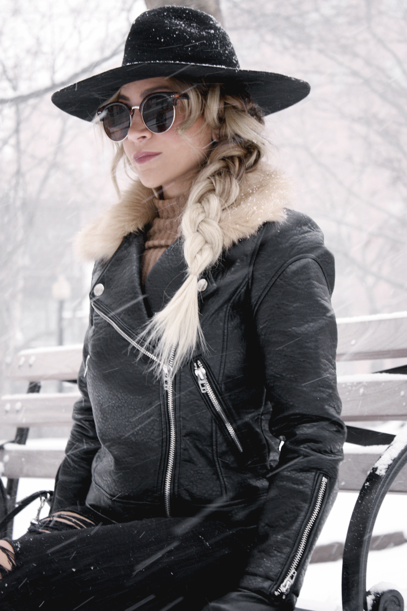 Snowstorm Chic with BlankNYC Moto Jacket - Quartz & Leisure