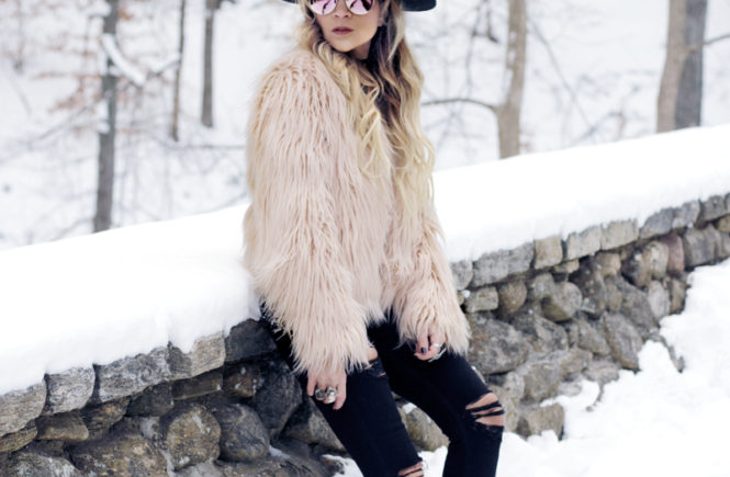 Pink Faux Fur Jacket - Quartz & Leisure