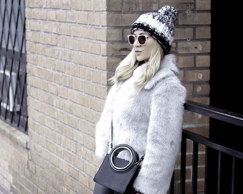 Grey Faux Fur Coat - Quartz & Leisure