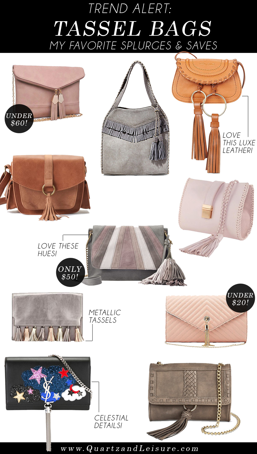 Tassel Bags - My Favorite Splurges & Saves - Quartz & Leisure