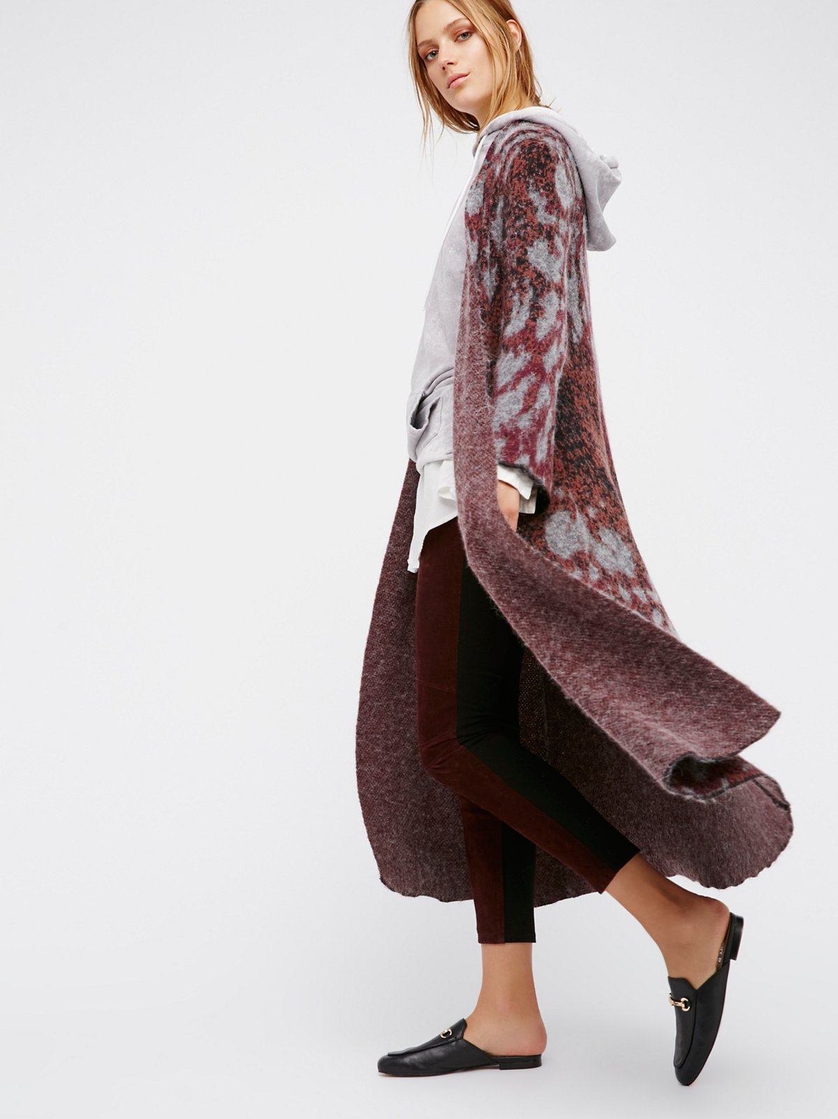 Long duster sweaters