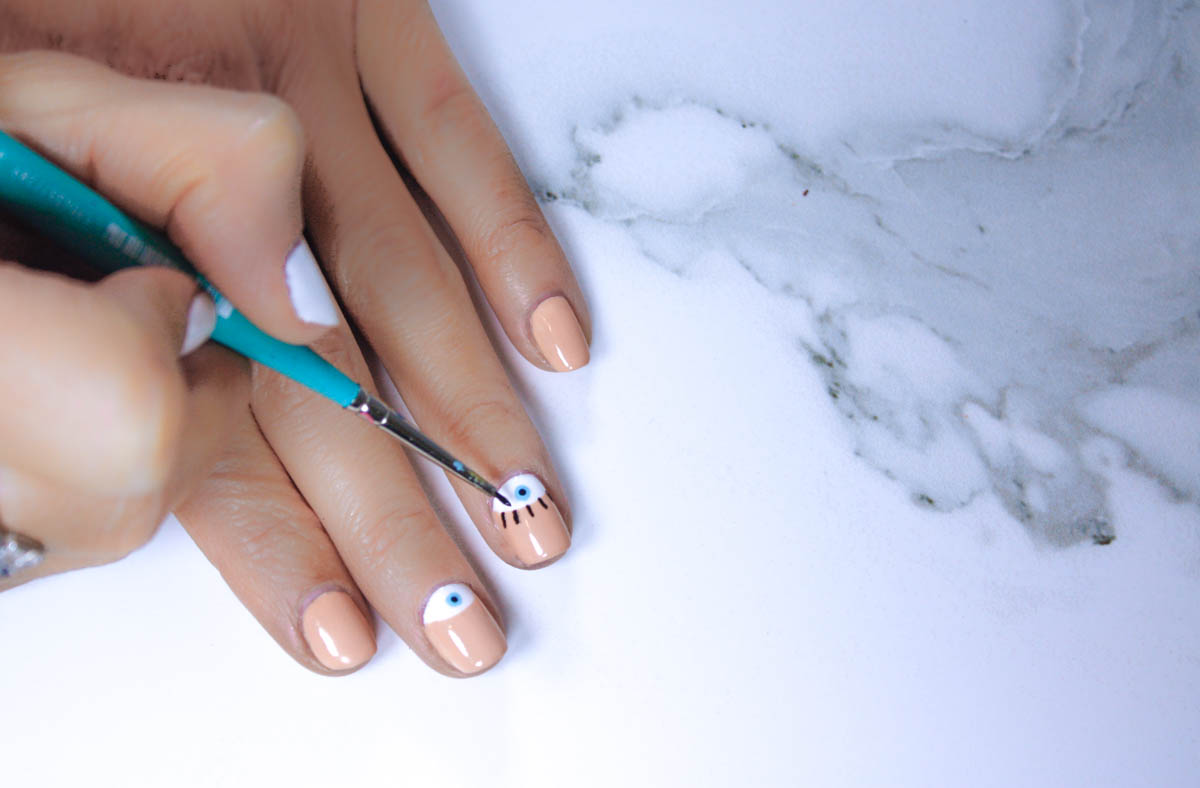 DIY Evil Eye Manicure - Quartz & Leisure