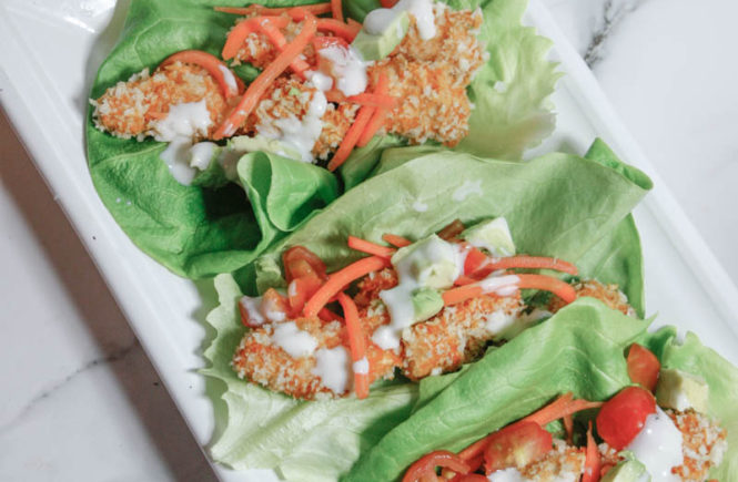 Healthy Buffalo Chicken Lettuce Wraps - Quartz & Leisure