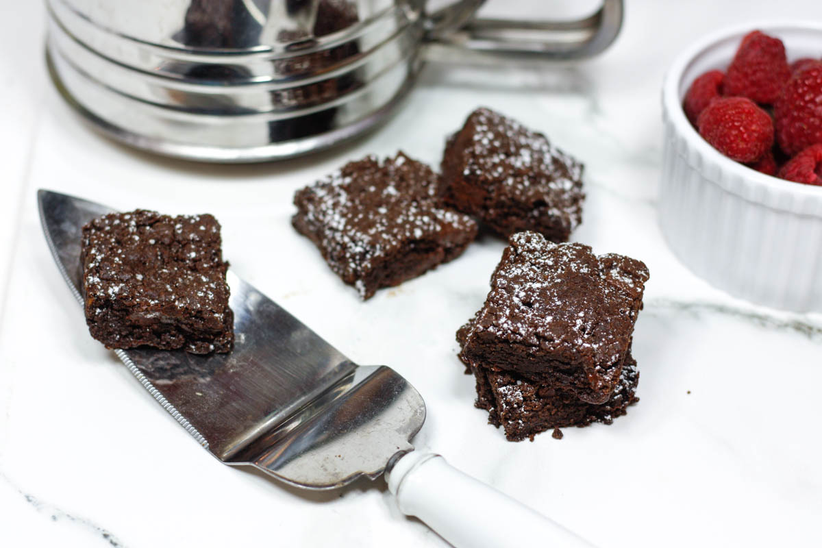 Gluten Free Dairy Free Vegan Brownies - Quartz & Leisure