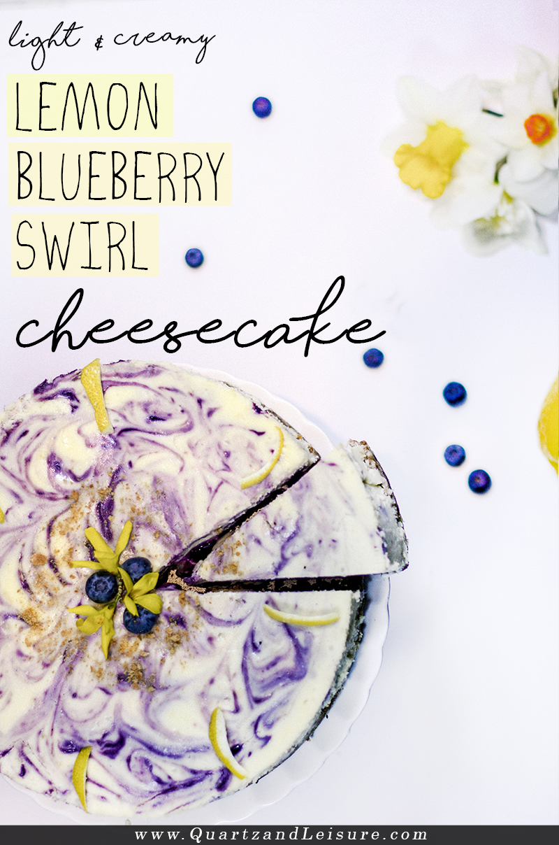 Lemon Blueberry Cheesecake - Quartz & Leisure