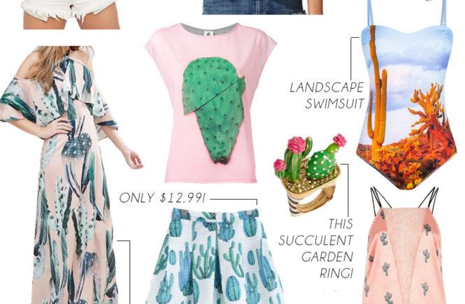Trending Now: Cactus Print - Quartz & Leisure