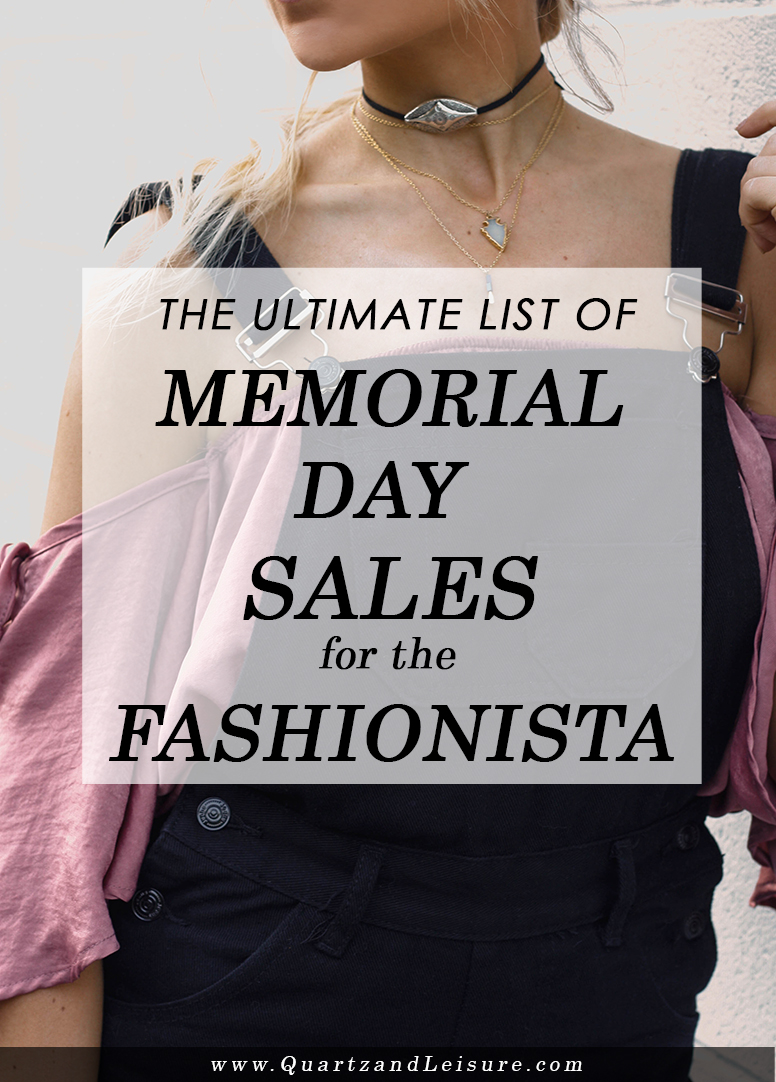Memorial Day Sales 2017 - Quartz & Leisure