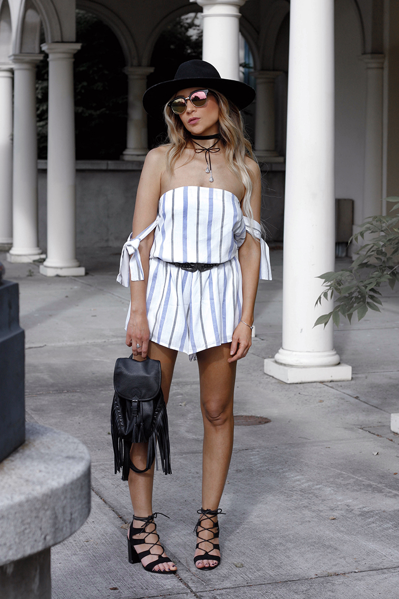 Striped Tobi Romper - Quartz & Leisure