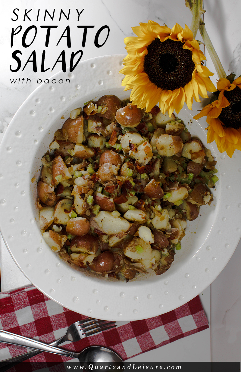 Skinny Potato Salad - Quartz & Leisure