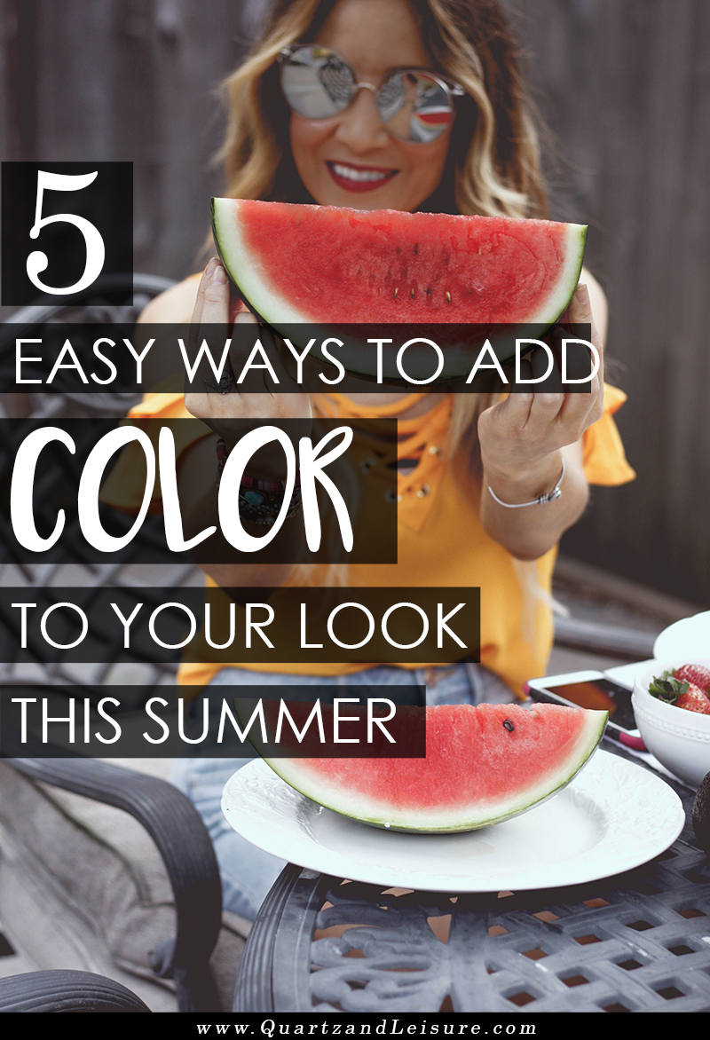 5 Easy Ways to Add Color to Your Wardrobe - Quartz & Leisure