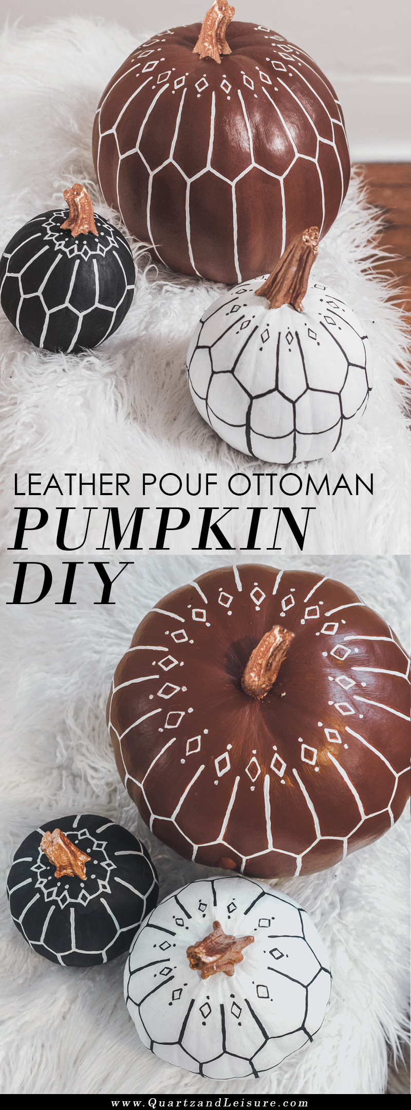 Bohemian Pumpkin Decorating DIY - Modern Pumpkin Decor