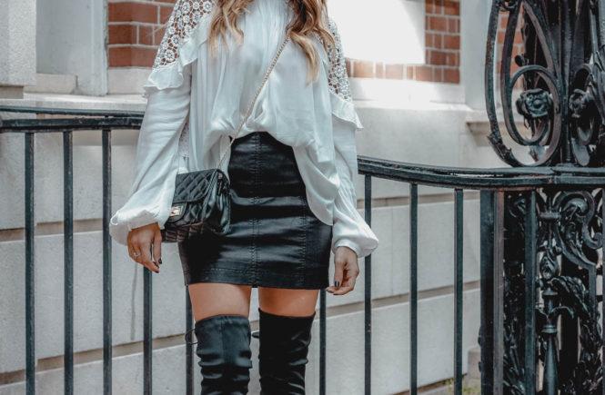 Free People Femme Skirt - Black Leather Skirt