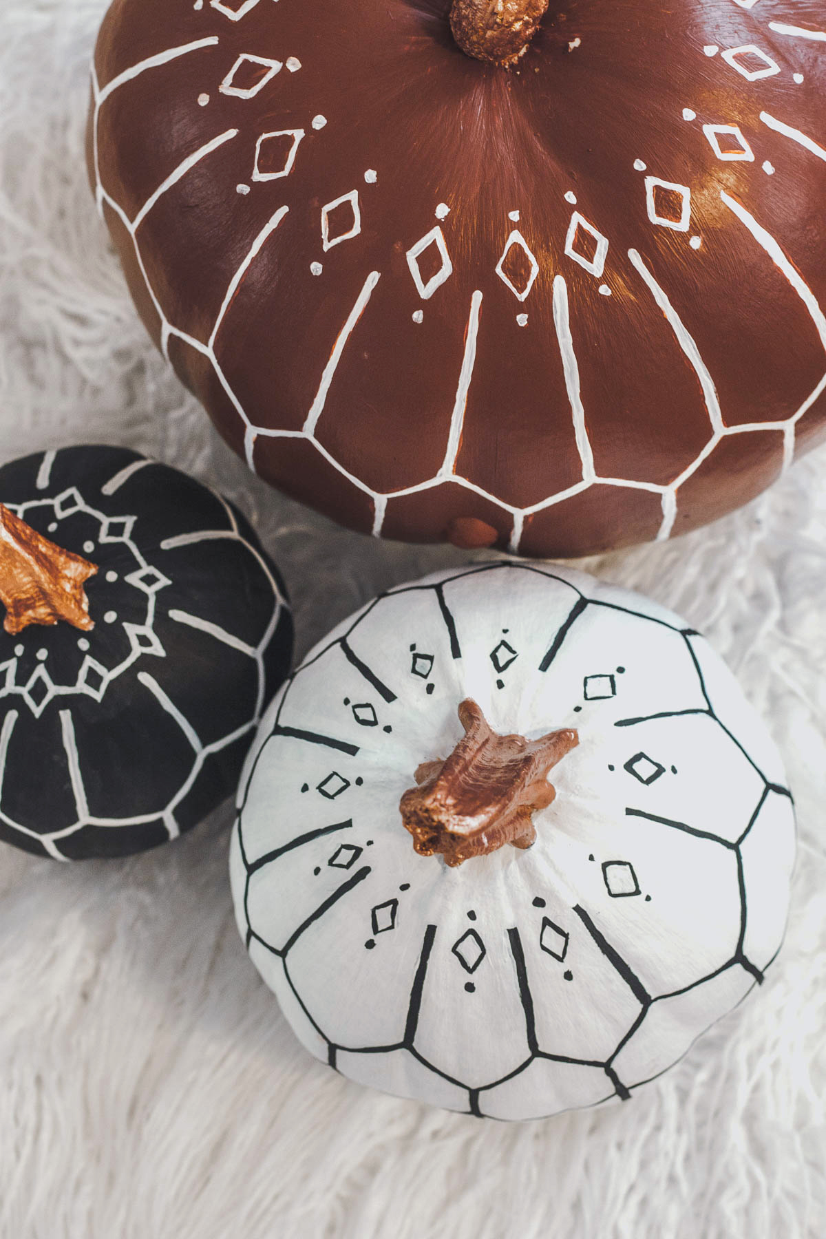 Bohemian Pumpkin DIY - Modern Pumpkin Decor