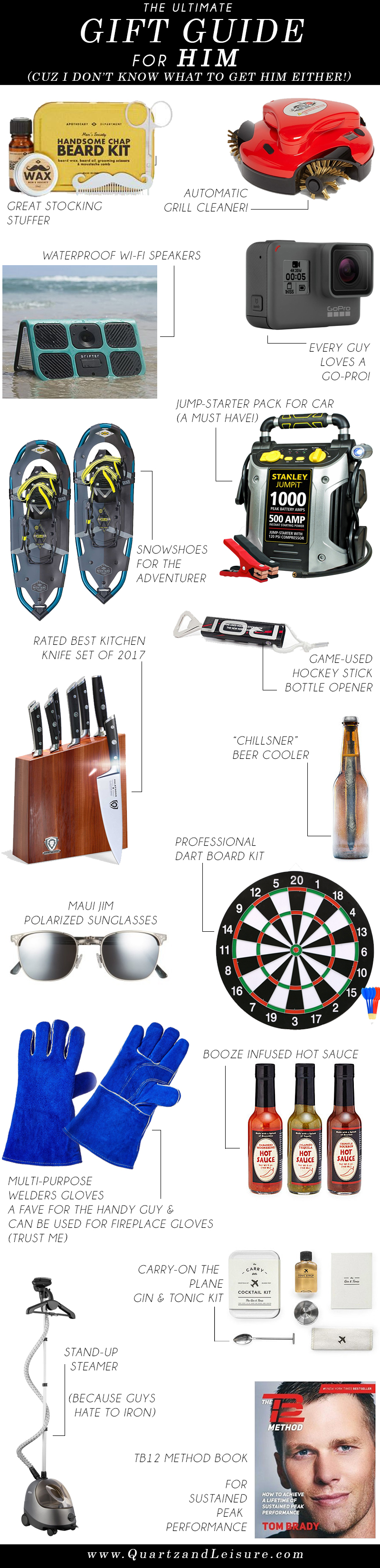 Gift Guide For Him 2017 - Best Gift Ideas for him, gifts for him, gifts for men, gifts for boyfriend