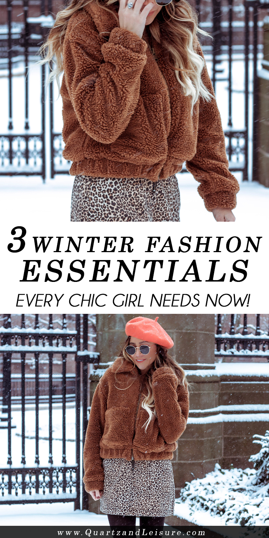 3 Winter Fashion Essentials