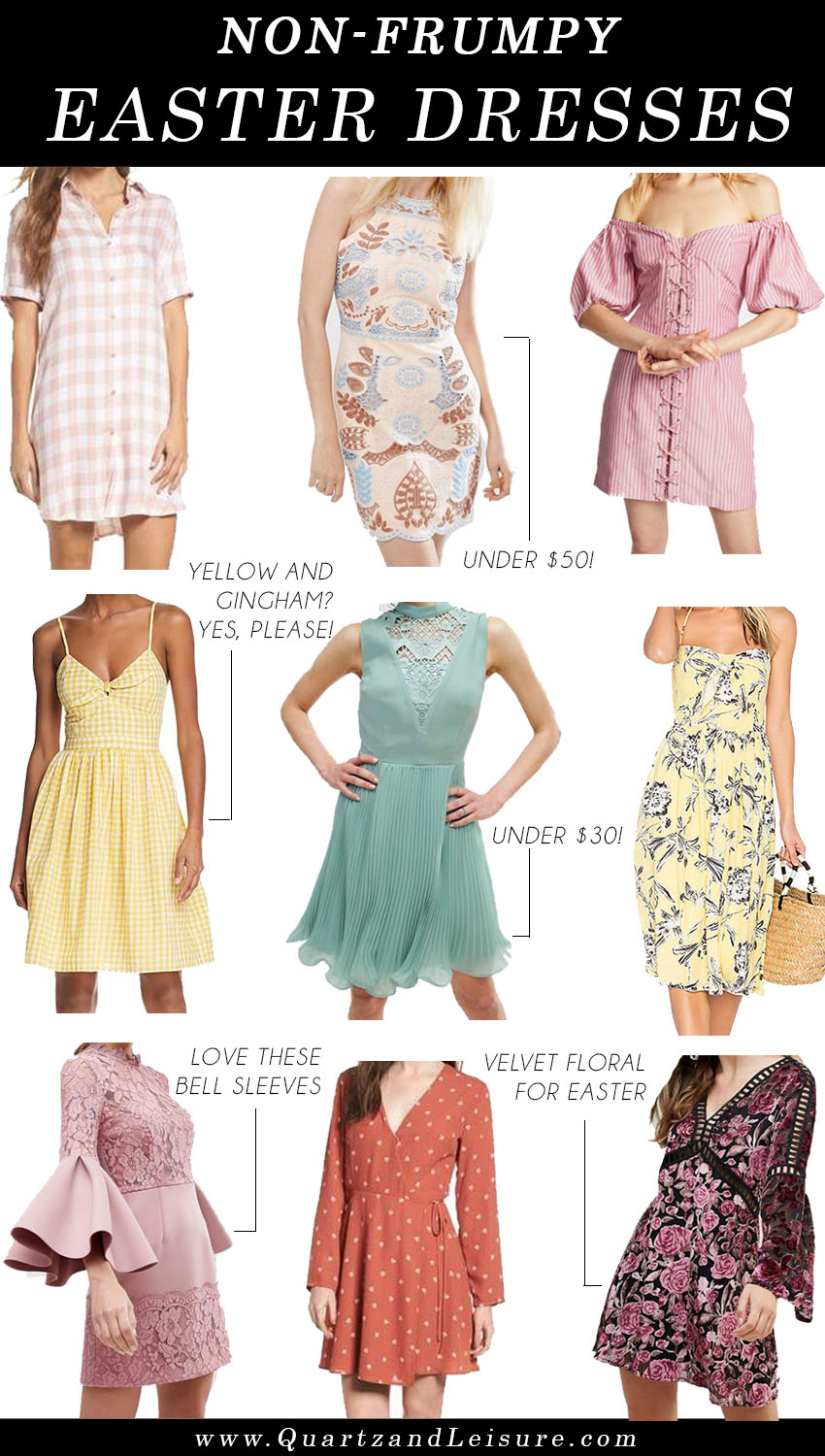 Easter Dresses, ASOS lace dress, WAYF dress, BB Dakota dress