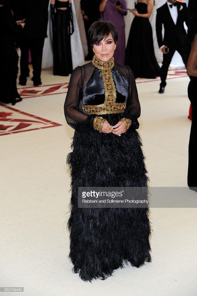 Kris Jenner at the Met Gala 2018
