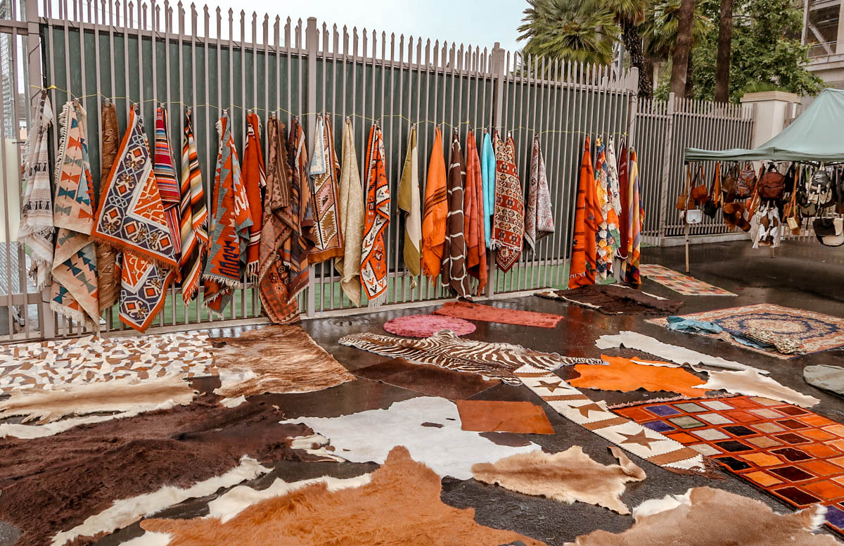Vintage Rugs at the Rose Bowl Flea Market