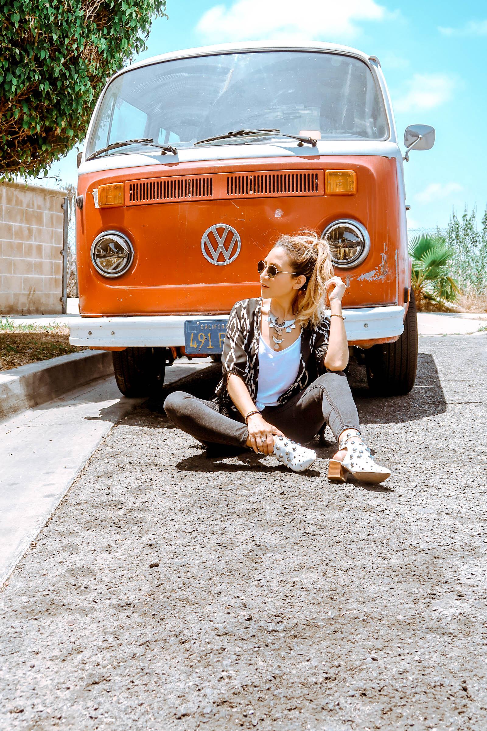 Fringe Kimono, VW Van California
