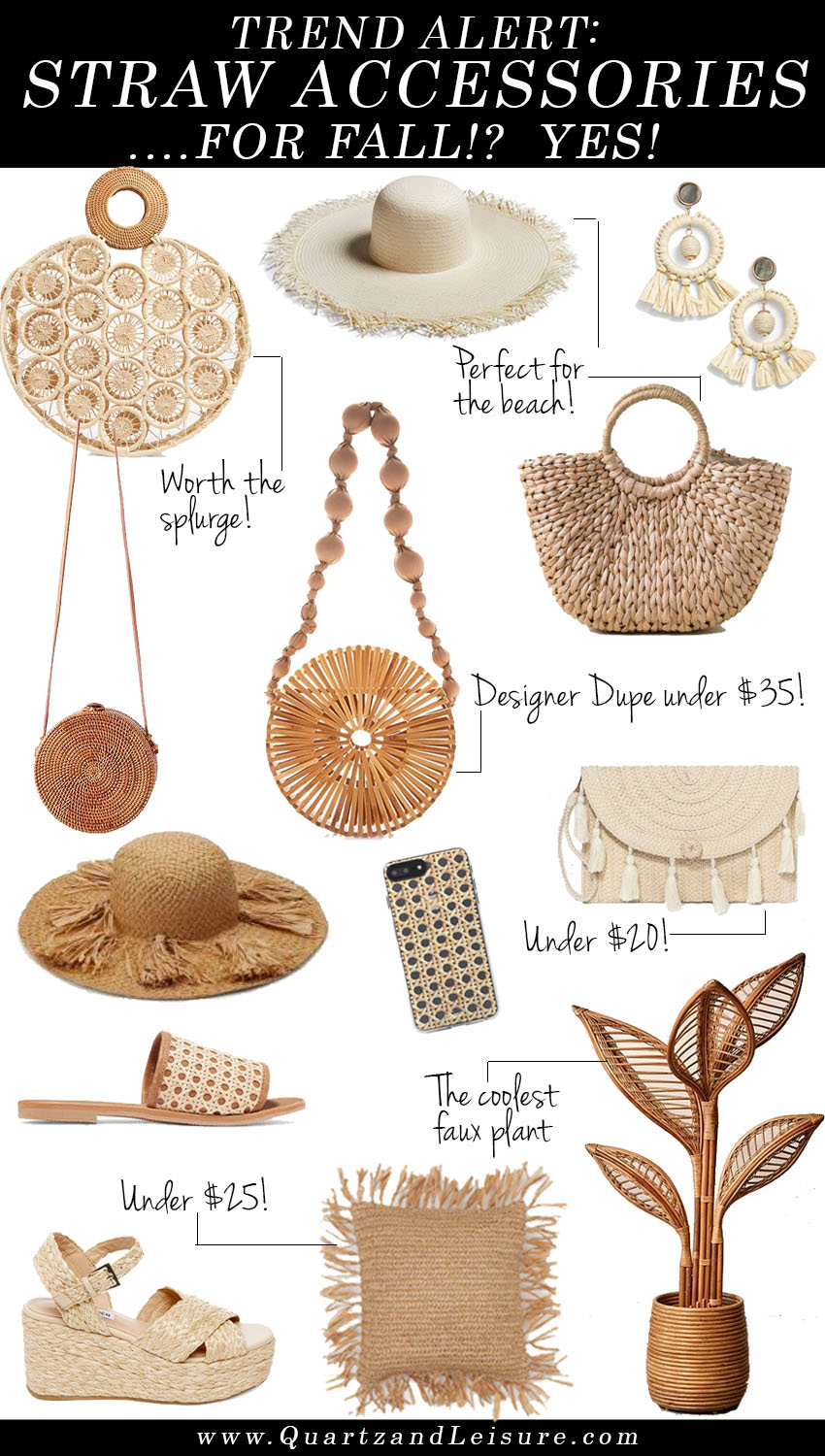 Straw Accessories, Straw Bag Dupes