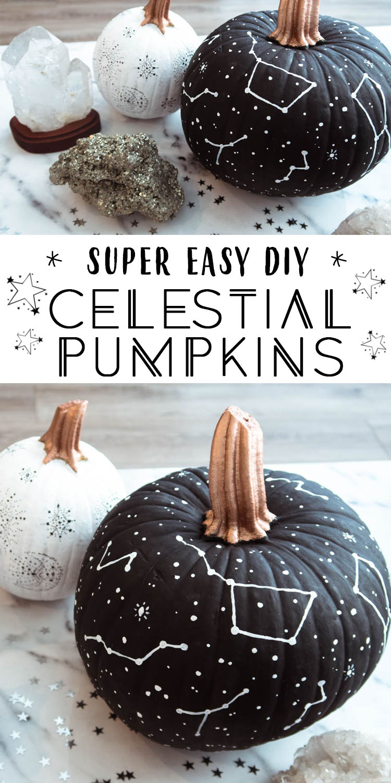 Celestial Star Pumpkins DIY