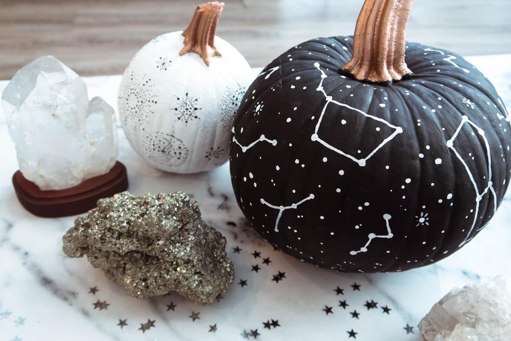 Celestial Pumpkin DIY, Star Pumpkin