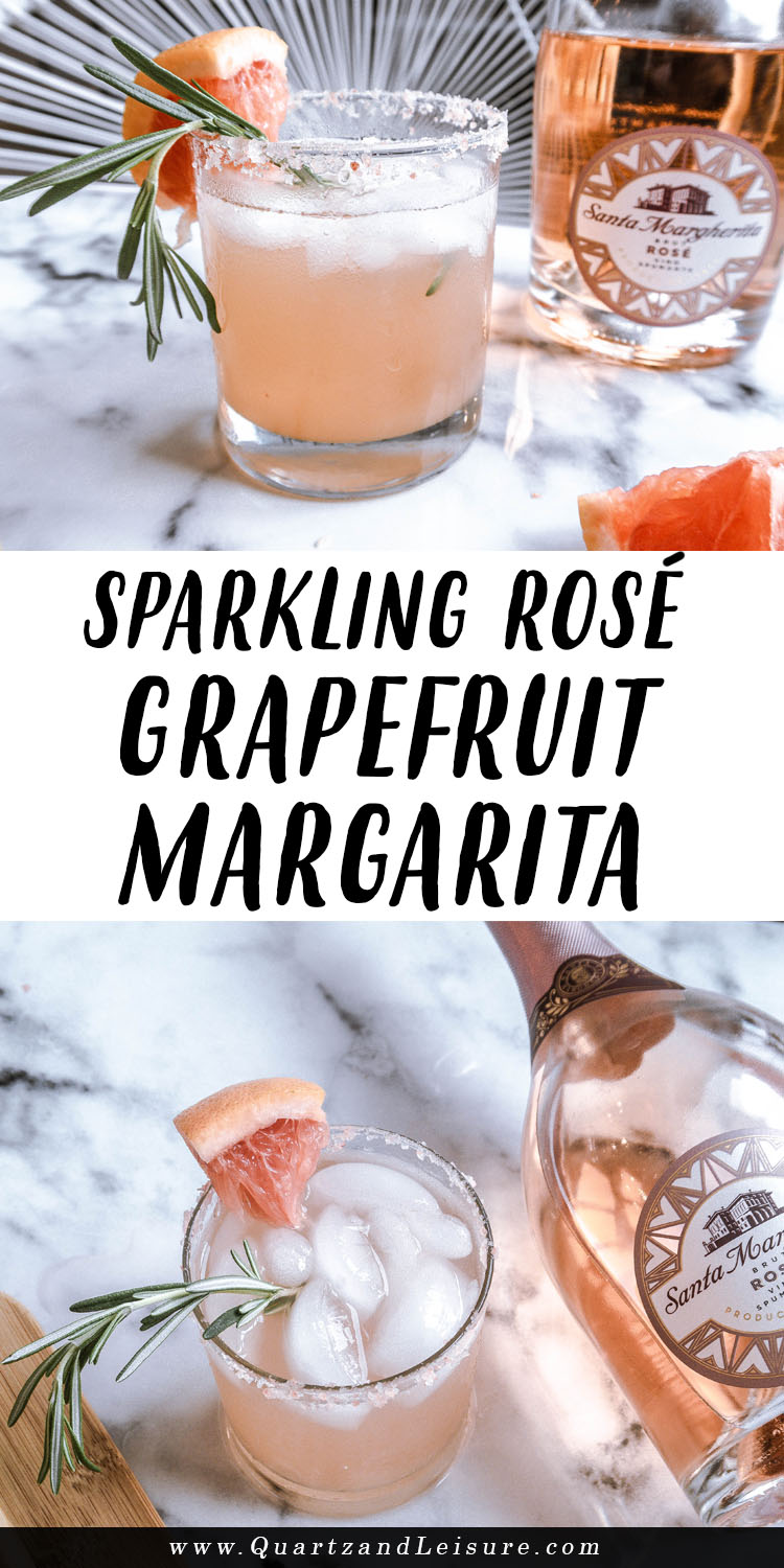 Sparkling Rose Grapefruit Margarita