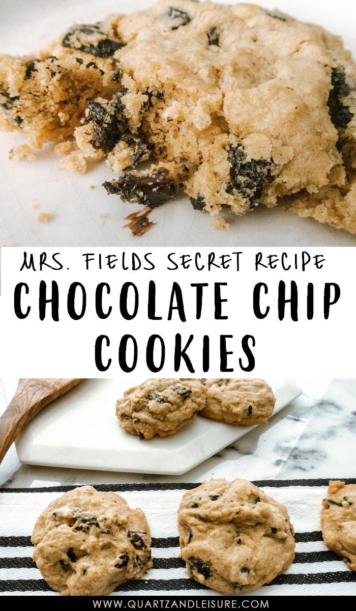 Mrs Fields Chocolate Chip Cookie Recipe