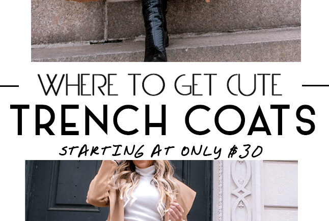 Where to Get Trench Coats