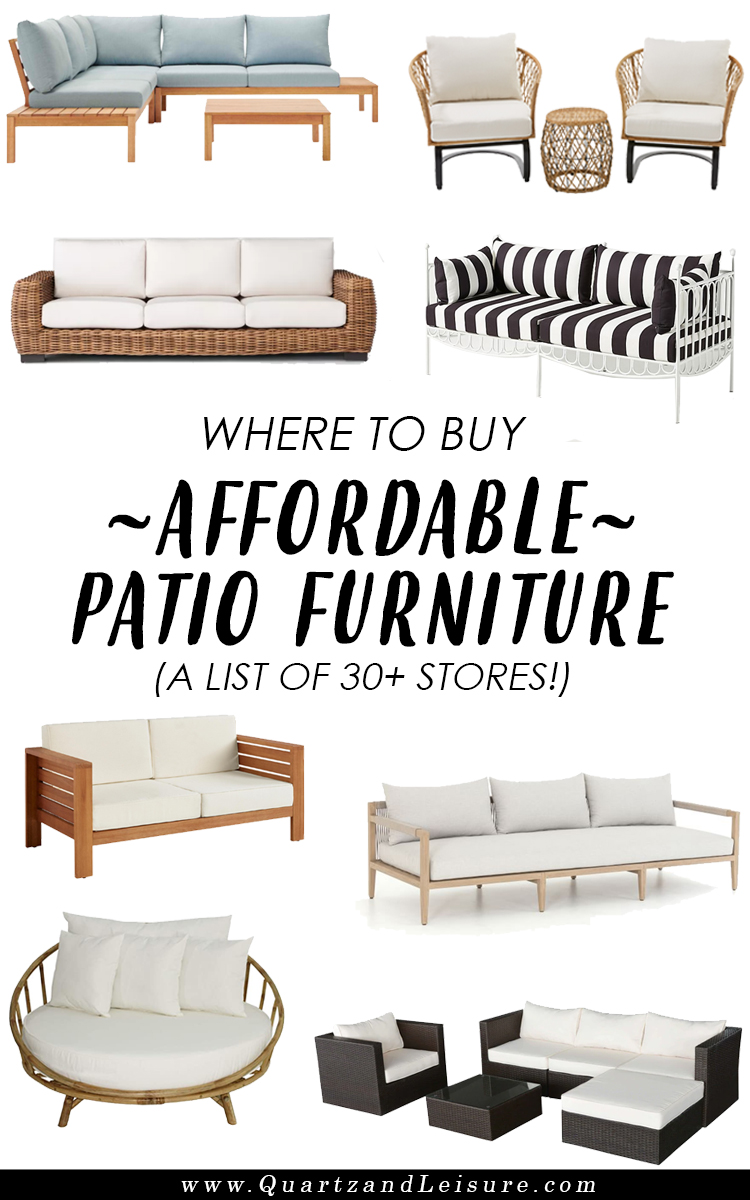 Where to Buy Cheap Patio Furniture