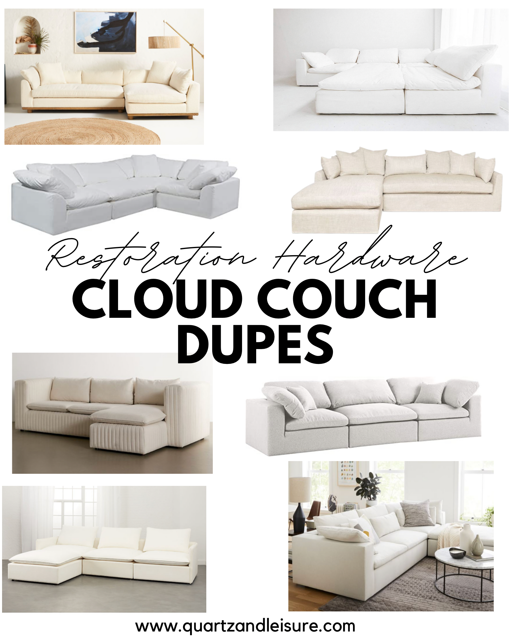 Restoration Hardware Cloud Couch Dupes