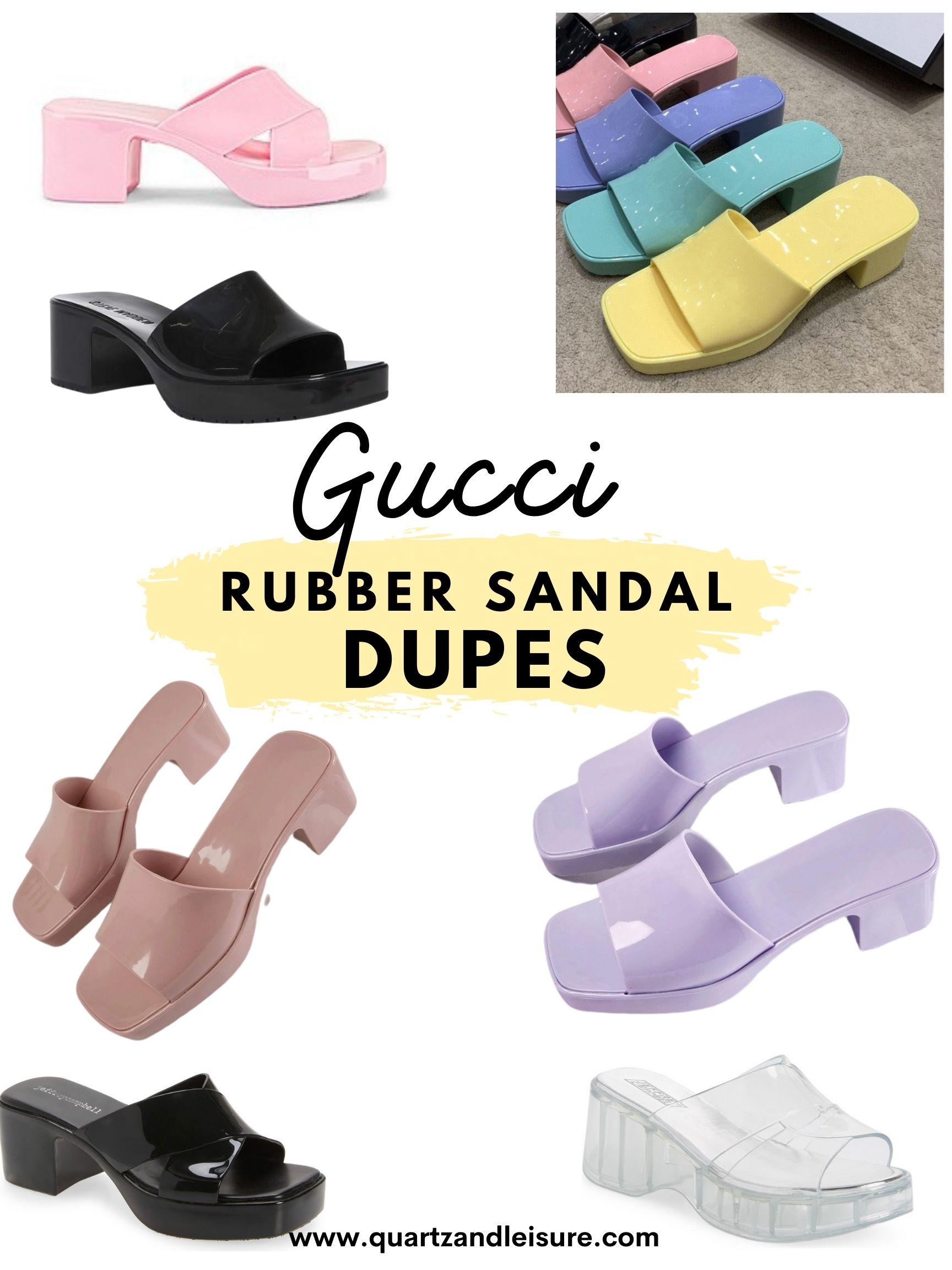 Gucci Rubber Sandal Dupes