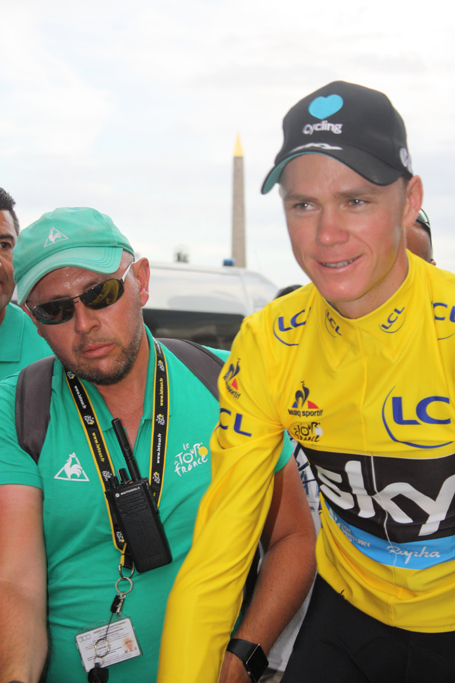 Chris Froome after winning the 2016 Tour de France